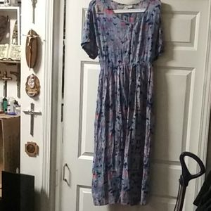 726 west vintage rayon maxi dress made in india